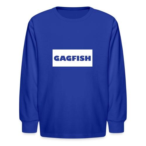 GAGFISH WIGHT LOGO - Kids' Long Sleeve T-Shirt