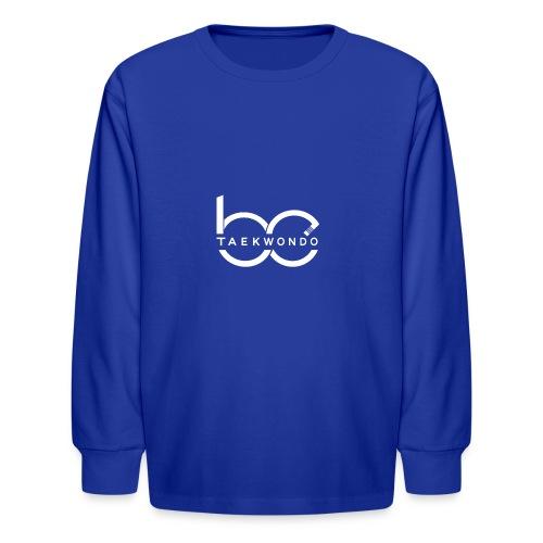 Logo emblem WHITE no bg - Kids' Long Sleeve T-Shirt