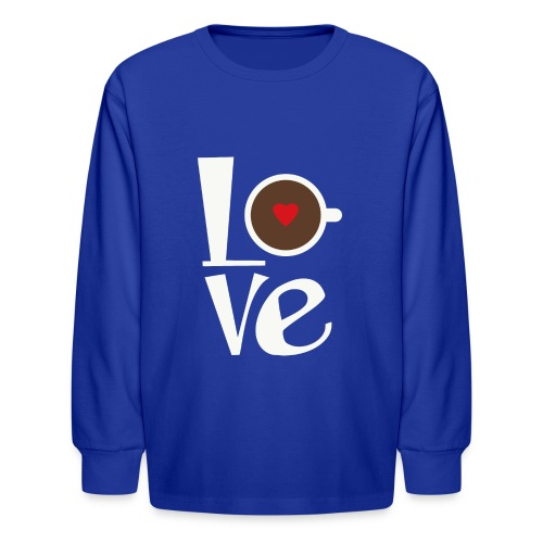 Love Coffee - Kids' Long Sleeve T-Shirt