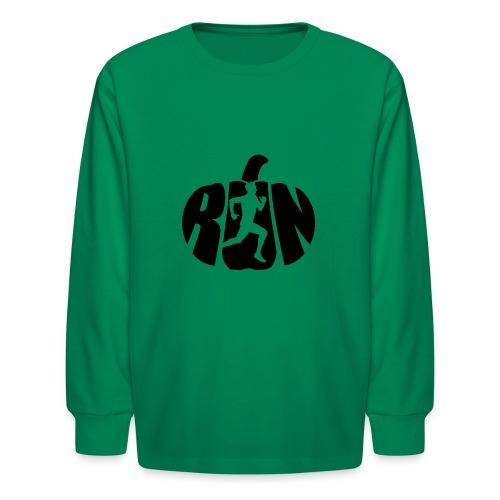 Halloween Running Pumpkin - Kids' Long Sleeve T-Shirt