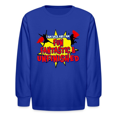 Unfinished girls jumping - Kids' Long Sleeve T-Shirt