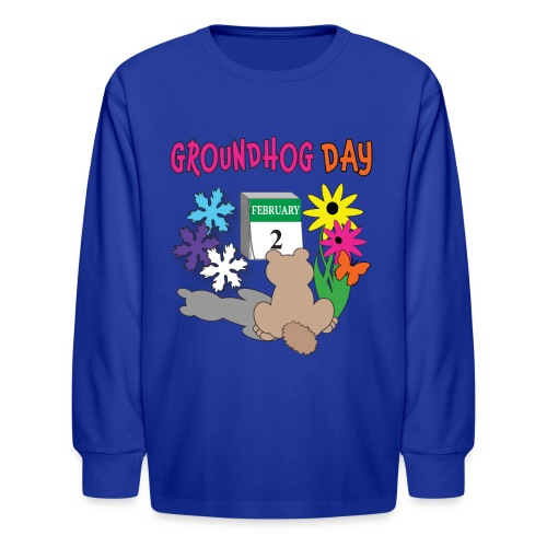 Groundhog Day Dilemma - Kids' Long Sleeve T-Shirt