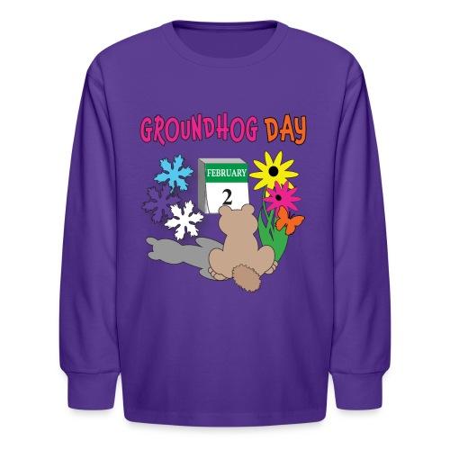 Groundhog Day Dilemma - Kids' Long Sleeve T-Shirt