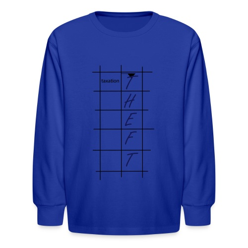 Taxation is Theft Crossword - Kids' Long Sleeve T-Shirt