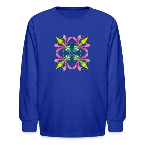 Glowing insects meeting in the middle of the night - Kids' Long Sleeve T-Shirt