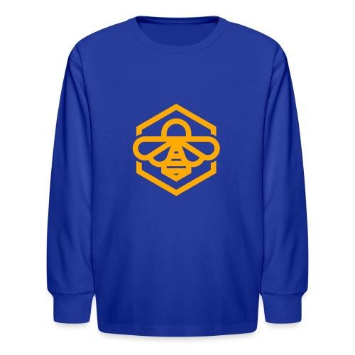 bee symbol orange - Kids' Long Sleeve T-Shirt