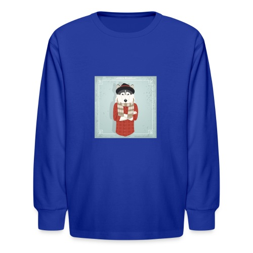 Hispter Dog - Kids' Long Sleeve T-Shirt