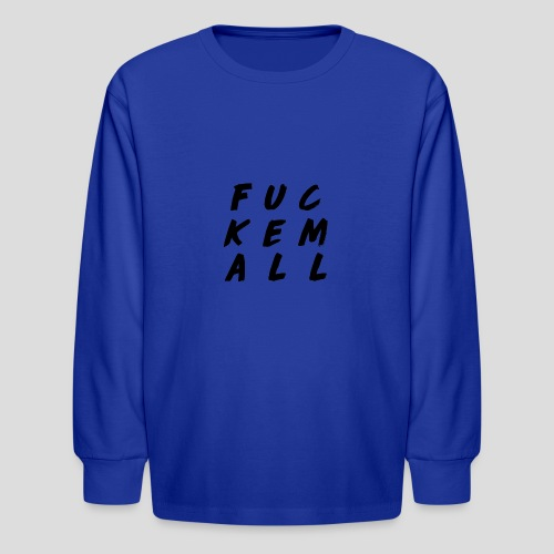 FUCKEMALL Black Logo - Kids' Long Sleeve T-Shirt