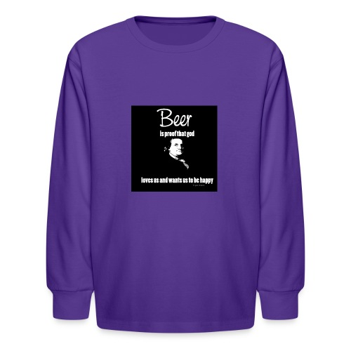 Beer T-shirt - Kids' Long Sleeve T-Shirt