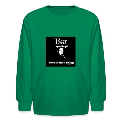 Beer T-shirt - Kids' Long Sleeve T-Shirt