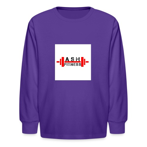 ASH FITNESS MUSCLE ACCESSORIES - Kids' Long Sleeve T-Shirt