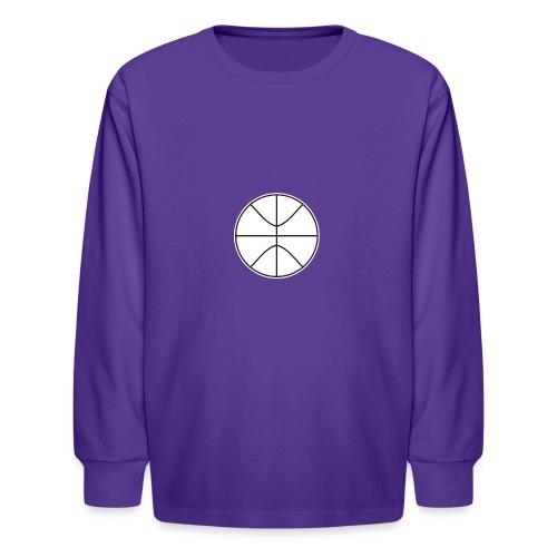 Basketball black and white - Kids' Long Sleeve T-Shirt