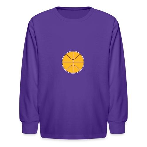 Basketball purple and gold - Kids' Long Sleeve T-Shirt