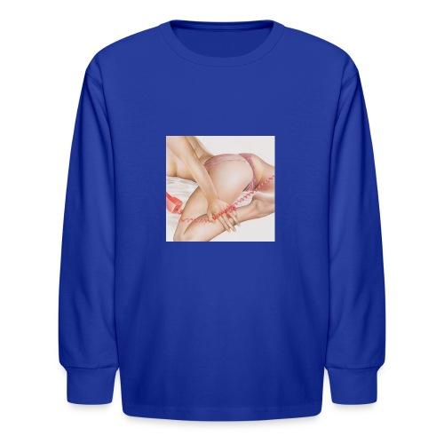 On da phone - Kids' Long Sleeve T-Shirt