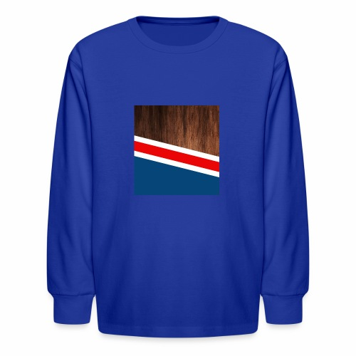 Wooden stripes - Kids' Long Sleeve T-Shirt