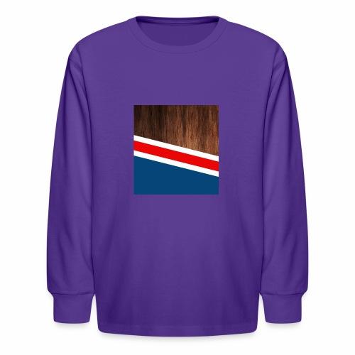 Wooden stripes - Kids' Long Sleeve T-Shirt