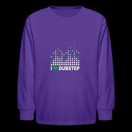 I heart dubstep - Kids' Long Sleeve T-Shirt