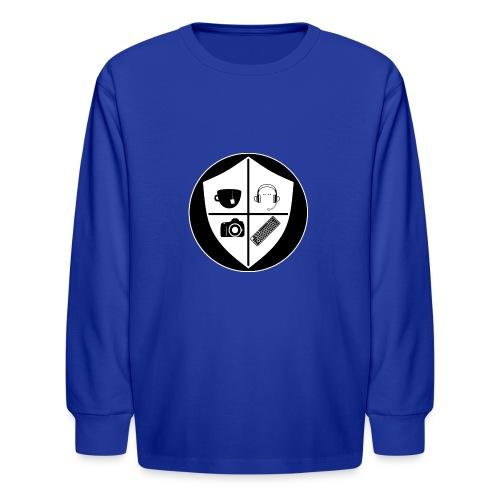 Punk Who Drinks Tea Crest (Inverted) - Kids' Long Sleeve T-Shirt