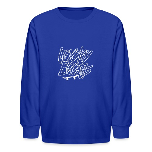 Loyalty Boards White Font With Board - Kids' Long Sleeve T-Shirt