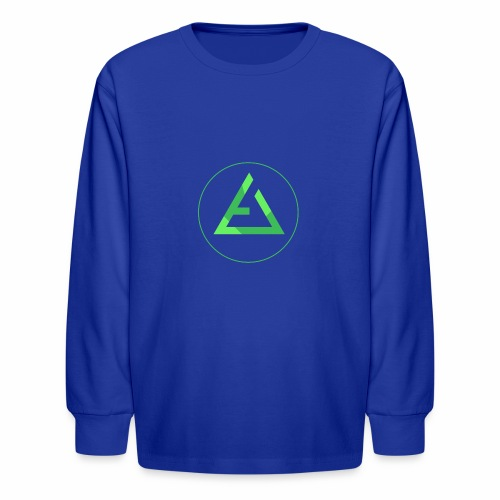 crypto logo branding - Kids' Long Sleeve T-Shirt