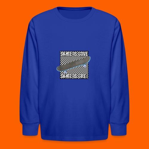 SK8 is Love - Kids' Long Sleeve T-Shirt