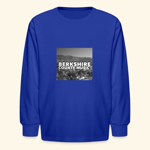 Berkshire County Music Black/White - Kids' Long Sleeve T-Shirt