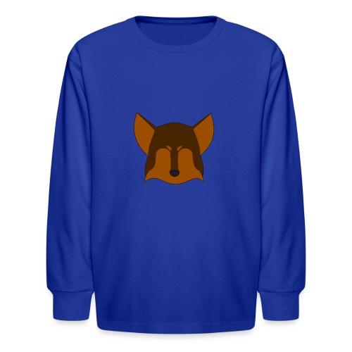 Simple Wolf Head - Kids' Long Sleeve T-Shirt