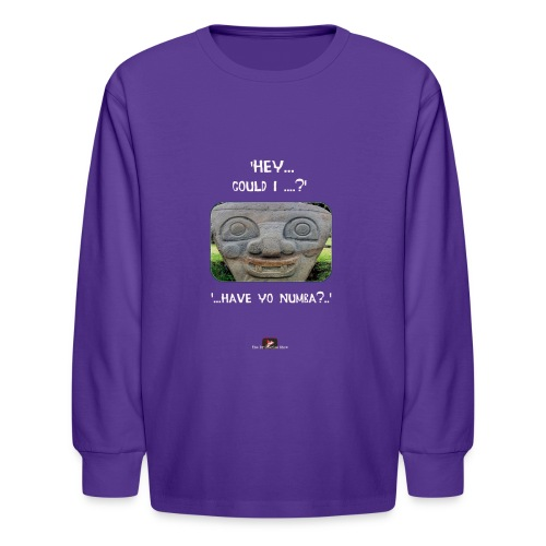 The Hey Could I have Yo Number Alien - Kids' Long Sleeve T-Shirt