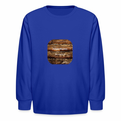 "InovativObsesion ""LOGGED IN"" apparel - Kids' Long Sleeve T-Shirt"