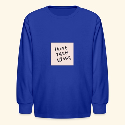 show em what you about - Kids' Long Sleeve T-Shirt
