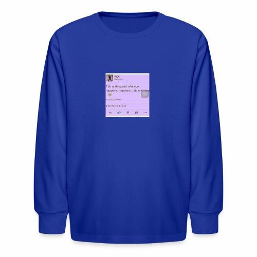 Idc anymore - Kids' Long Sleeve T-Shirt