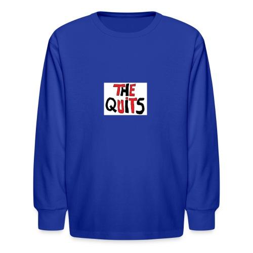 quits logo - Kids' Long Sleeve T-Shirt