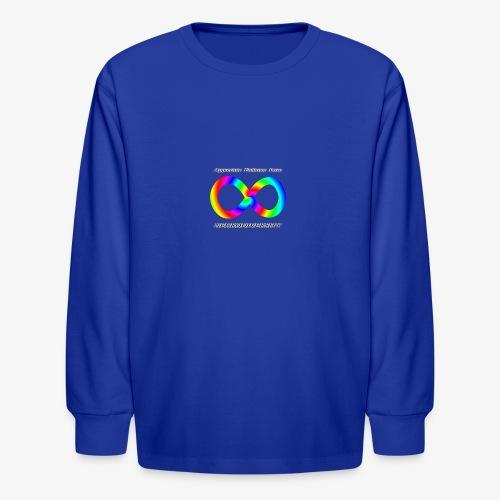Embrace Neurodiversity with Swirl Rainbow - Kids' Long Sleeve T-Shirt