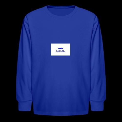 Blue 94th mile - Kids' Long Sleeve T-Shirt