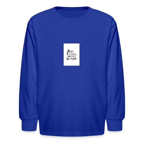 Throw kindness around - Kids' Long Sleeve T-Shirt