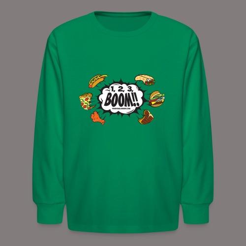 123_BOOM_FINAL Spreadshir - Kids' Long Sleeve T-Shirt