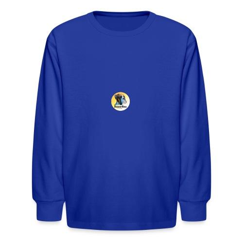 Boxer Rex logo - Kids' Long Sleeve T-Shirt