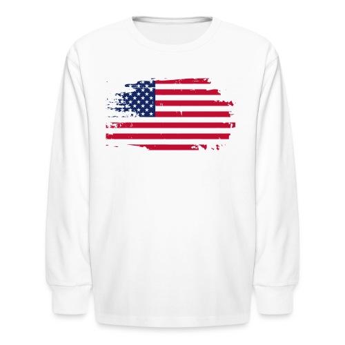 usa america american flag - Kids' Long Sleeve T-Shirt