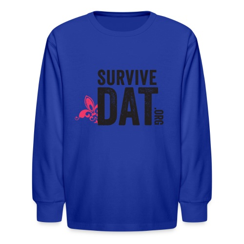 survive dat final logo stacked org color notag out - Kids' Long Sleeve T-Shirt