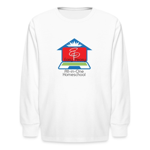 EP Logo with All-In-One Homeschool - Kids' Long Sleeve T-Shirt