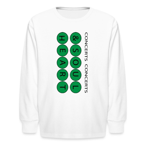 Heart & Soul Concerts text design - Mother Earth - Kids' Long Sleeve T-Shirt