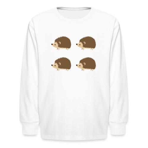 4up Hedgehogs - Kids' Long Sleeve T-Shirt