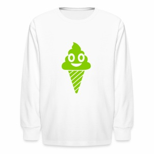 Smiling Ice Cream - Kids' Long Sleeve T-Shirt