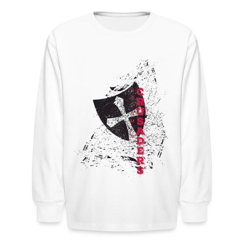 Shield-v6-Distressed-2c - Kids' Long Sleeve T-Shirt