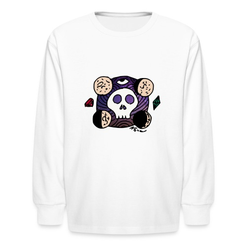Moon Skull from Outer Space - Kids' Long Sleeve T-Shirt
