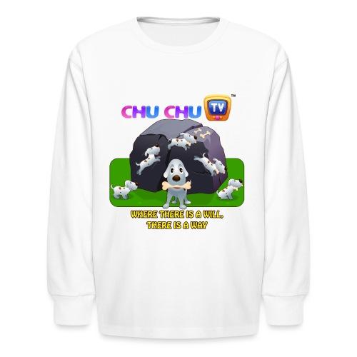 Motivation Slogan 9 - Kids' Long Sleeve T-Shirt