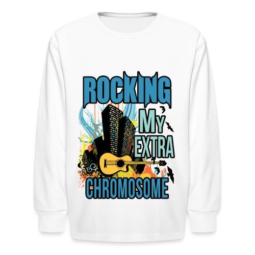 Rocking my extra chromosome - Kids' Long Sleeve T-Shirt