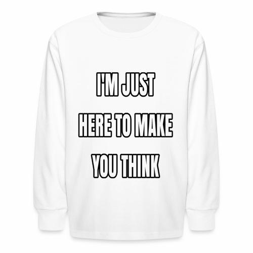 IJHTMYT (White Font) - Kids' Long Sleeve T-Shirt