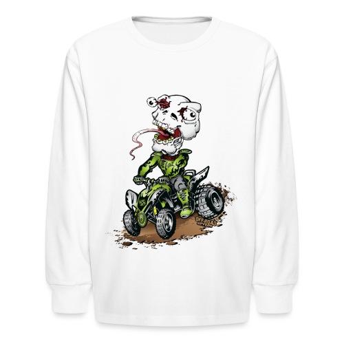ATV Quad Crazy Skully - Kids' Long Sleeve T-Shirt