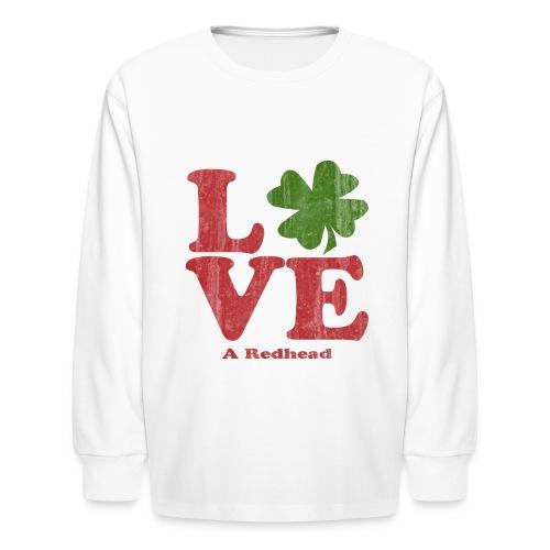 Love A Redhead - Kids' Long Sleeve T-Shirt